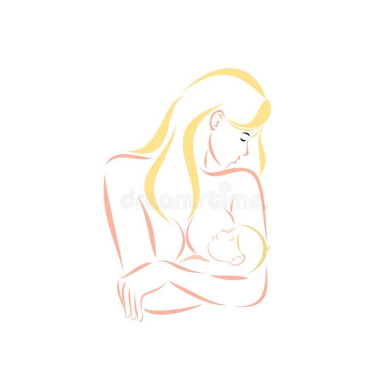 Материнство и кормить грудью стоковое фото rf