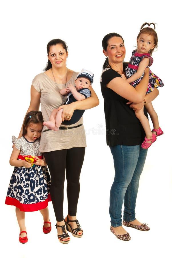 Матери и их дети стоковые фотографии rf