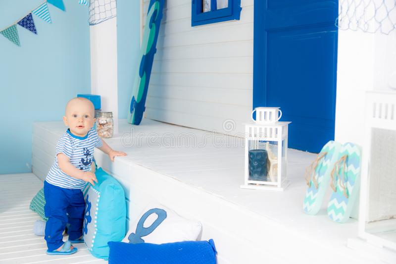 Матрос мальчика стоковые фотографии rf