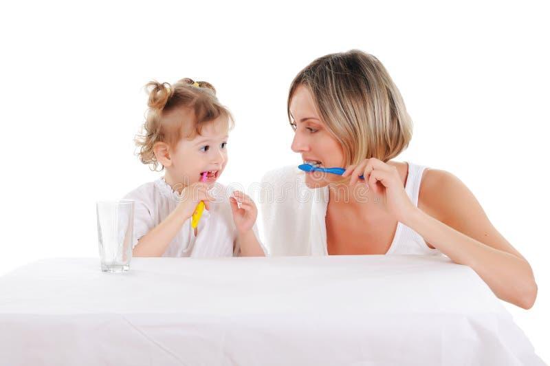 Мать и ее молодая дочь стоковые изображения rf