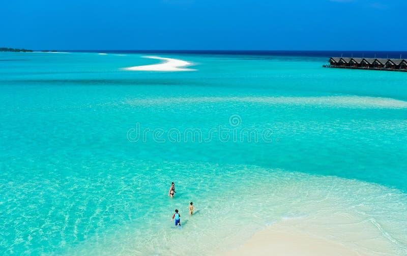Download Мать и дети на тропическом пляже Стоковое Изображение - изображение насчитывающей lifestyle, отдых: 40576559