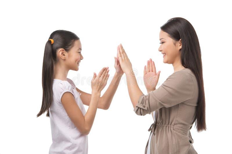 Мать и дочь. стоковая фотография rf