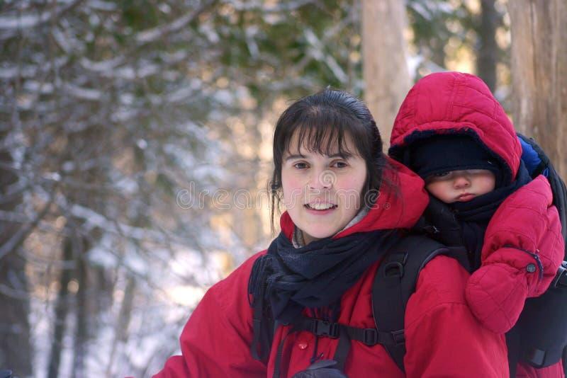 Hiking зимы стоковое изображение