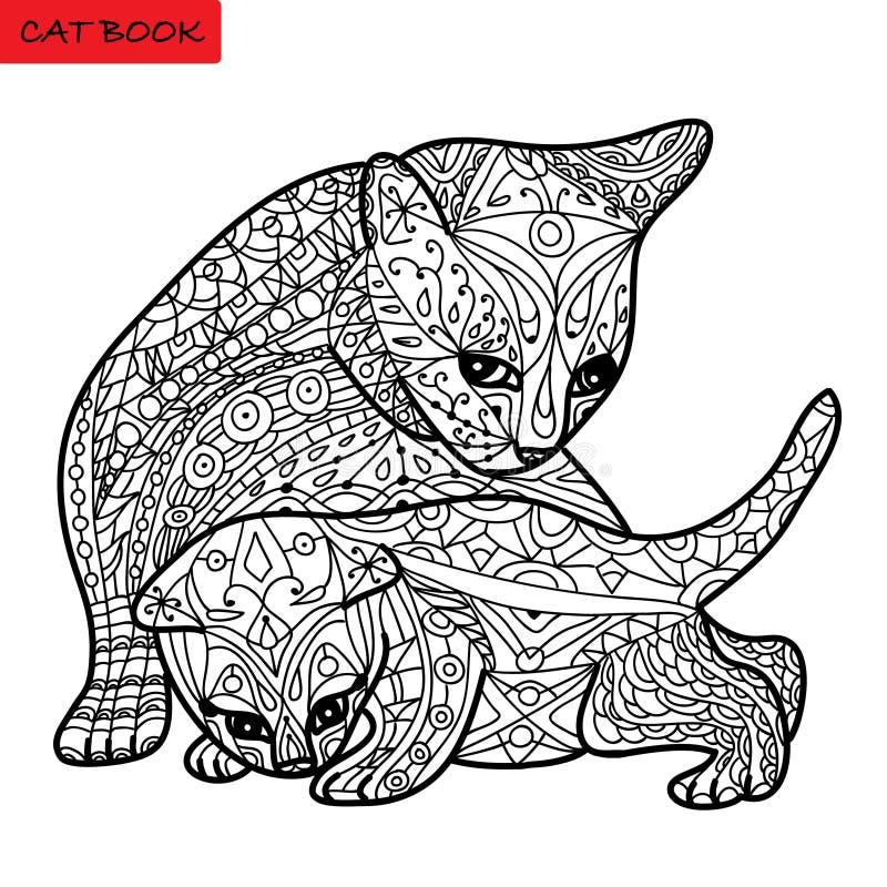 Мать кота и ее котенок - книжка-раскраска для взрослых ...