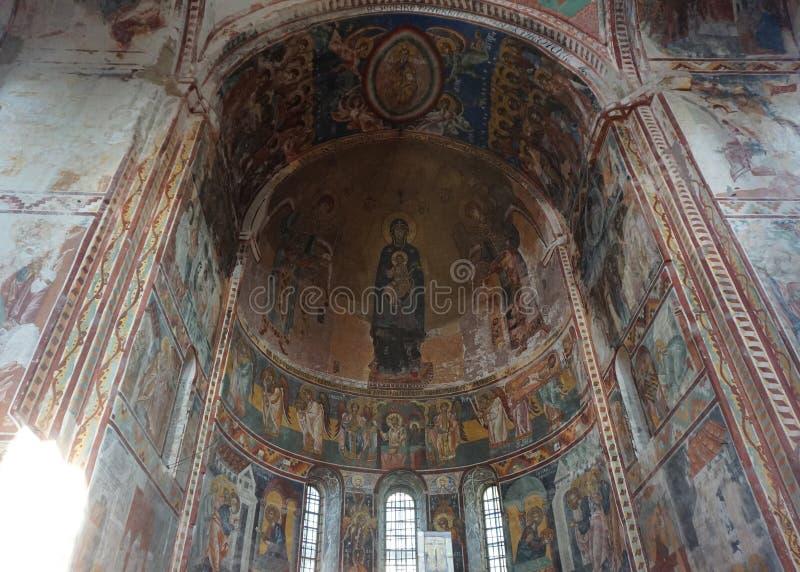 Мать монастыря Gelati фрески бога стоковое фото rf