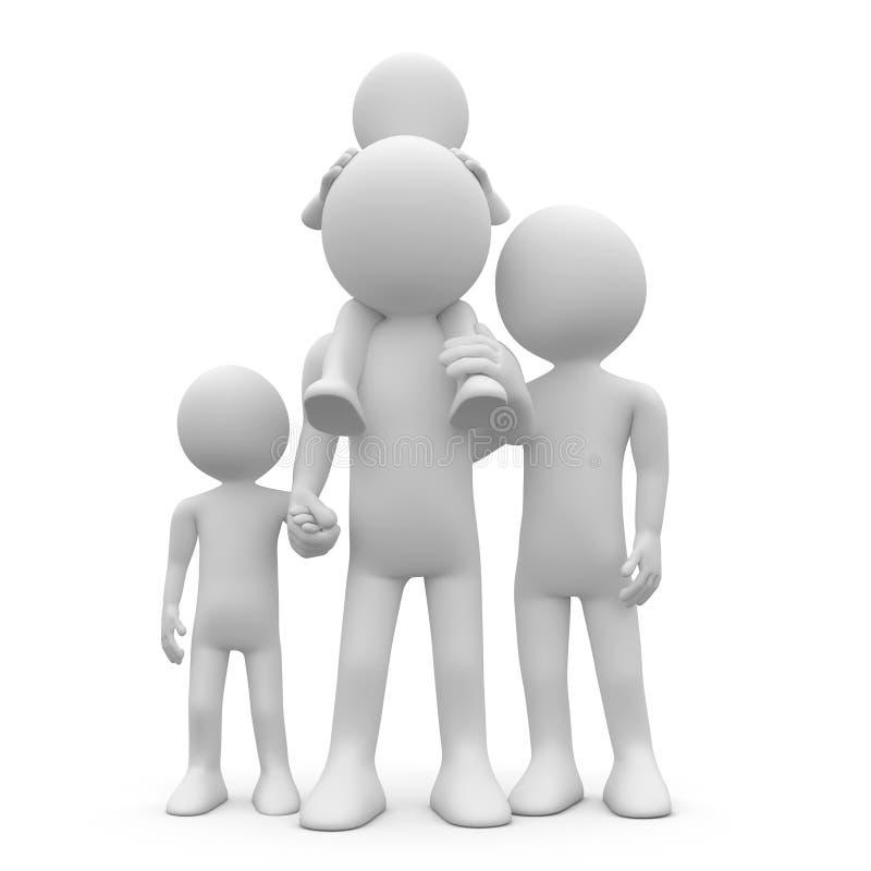 Download мать отца детей их 2 иллюстрация штока. иллюстрации насчитывающей человек - 18375541