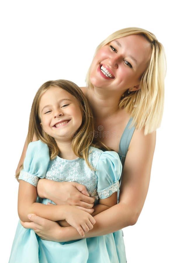 Мать при изолированная дочь стоковая фотография rf