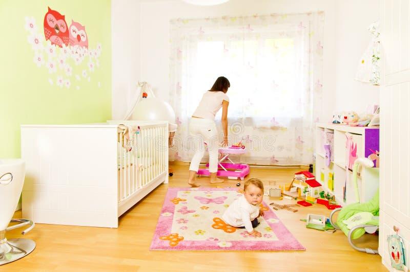мать ребенка домашняя стоковое фото