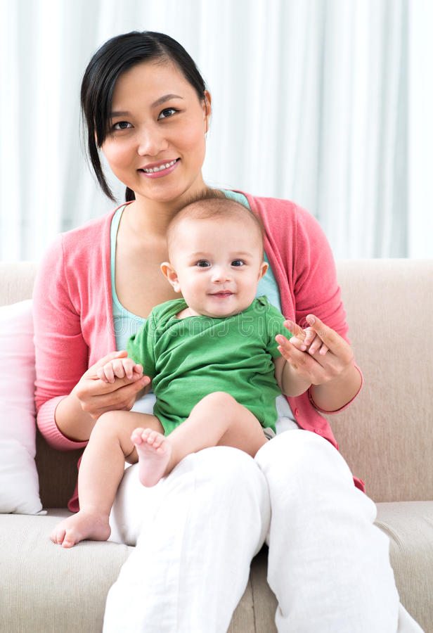 Мать & сын стоковое фото rf