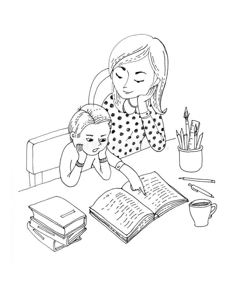 рисунок я читаю вместе с мамой лучшими визажистами, парикмахерами