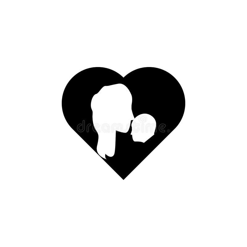 мать целует ребенка в значке сердца Элемент значка дня матерей Наградной качественный значок графического дизайна Знаки и colle с бесплатная иллюстрация