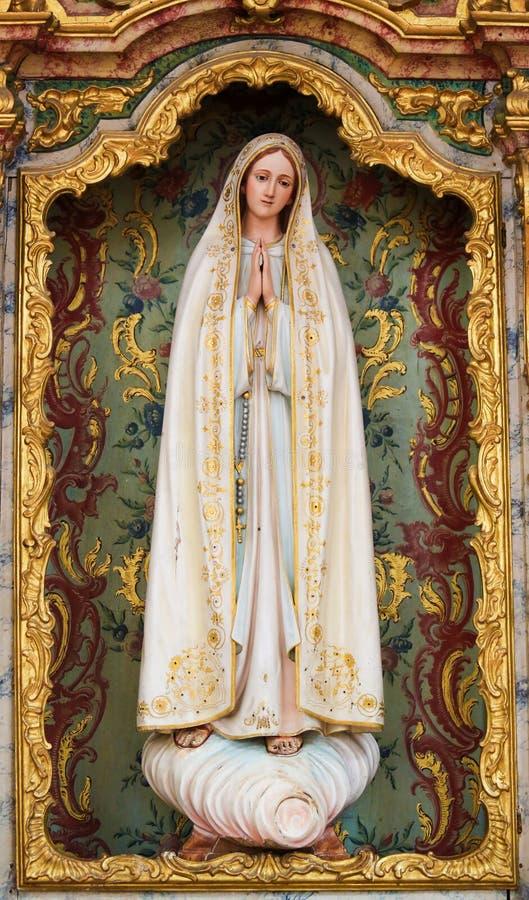 Мать Mary в Авейру Carthedral, Португалии стоковая фотография rf