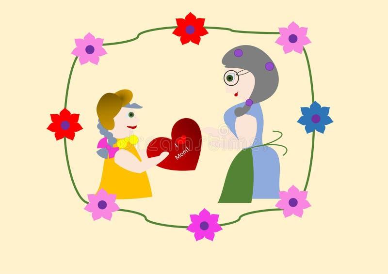 мать s дня карточки бесплатная иллюстрация