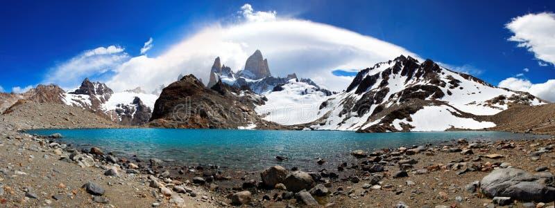 Маунт Fitz Roy, El Chaltén, Аргентина стоковое изображение rf