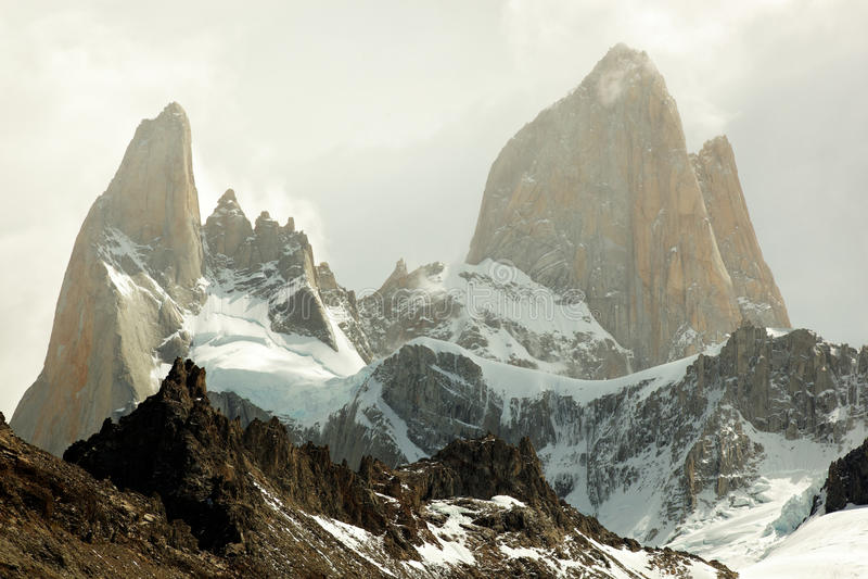 Маунт Fitz Roy, El Chaltén, Аргентина стоковое фото rf