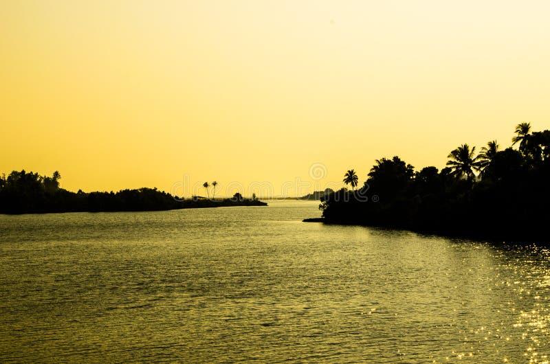 Махарастра Индия захода солнца стоковая фотография rf