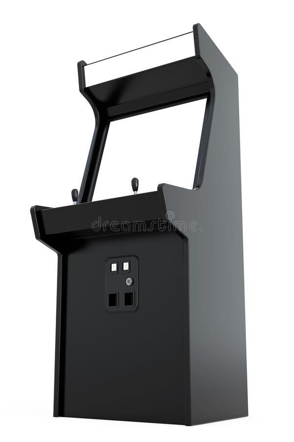 Машина аркады игры с пустым экраном для вашего дизайна 3d разрывают бесплатная иллюстрация