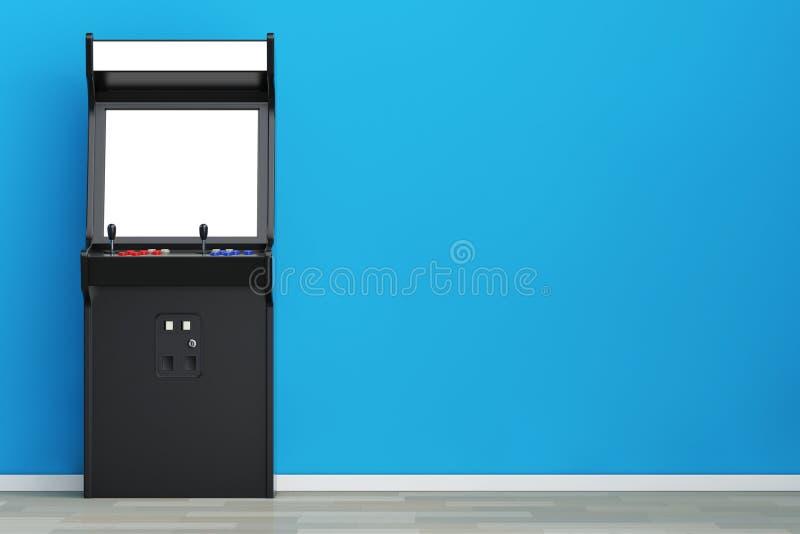 Машина аркады игры с пустым экраном для вашего дизайна 3d разрывают иллюстрация вектора
