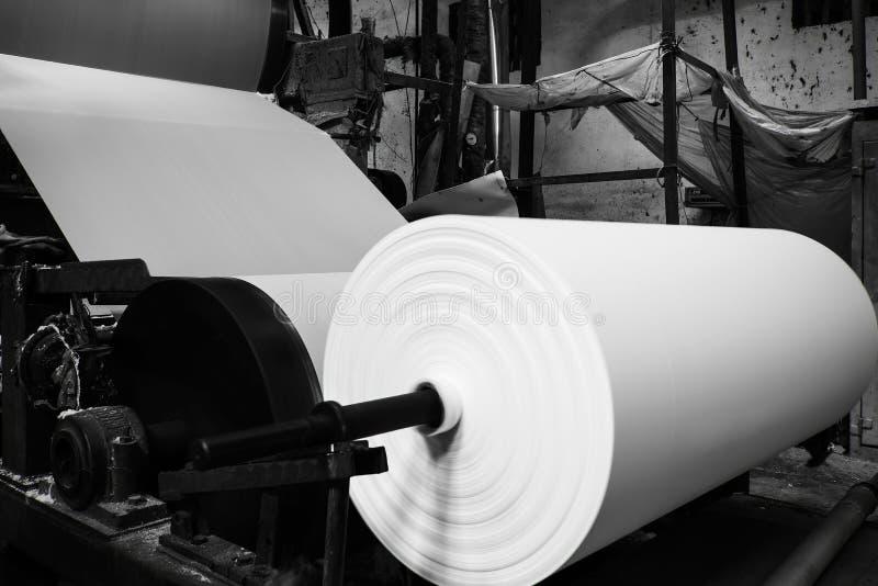 Машина бумажной фабрики стоковые фотографии rf