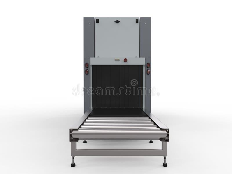 Машина блока развертки на контрольно-пропускном пункте службы безопасности аэропорта стоковые фото
