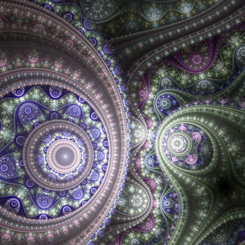 Машина времени фрактали Clockwork иллюстрация вектора