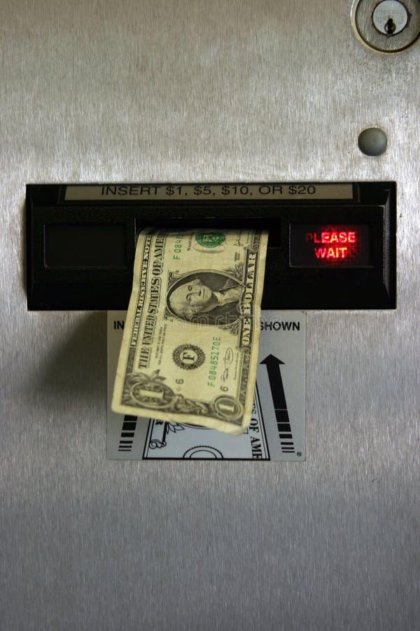 машина доллара изменения счета стоковое изображение rf