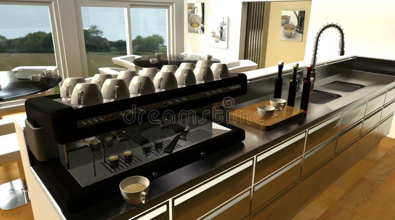 машина интерьера espresso кафа штанги иллюстрация вектора