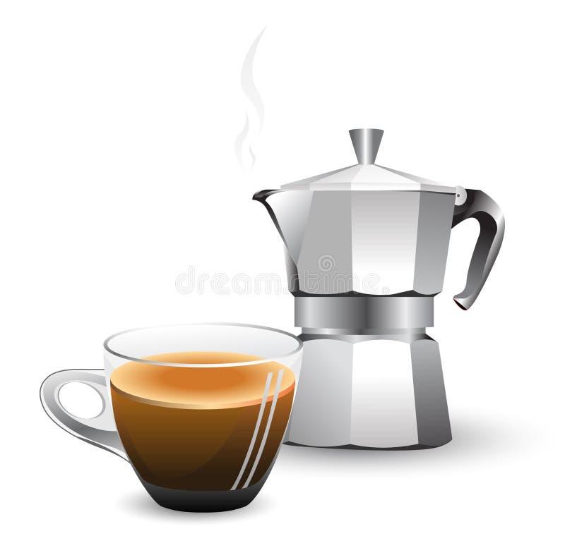 машина итальянки кофе бесплатная иллюстрация