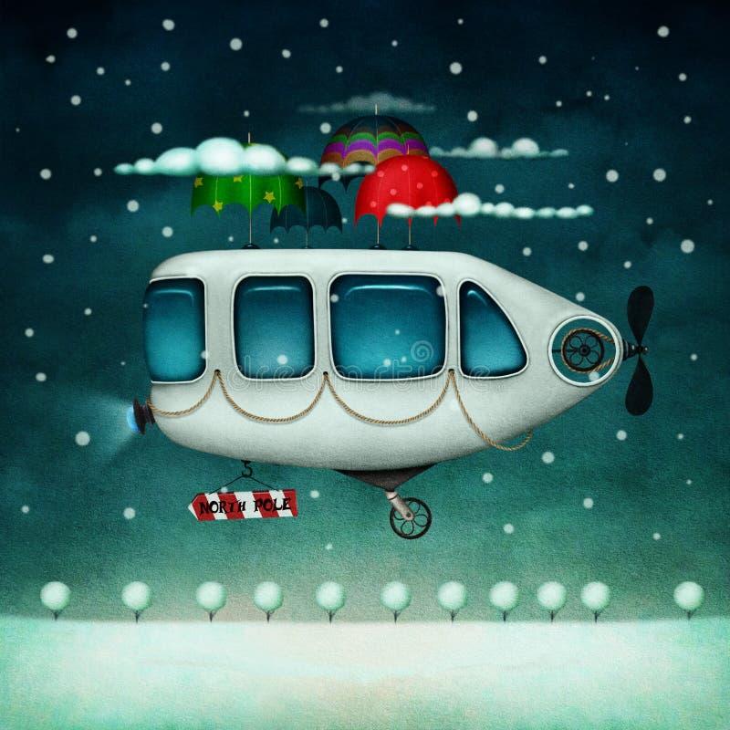 Машина летания иллюстрация штока