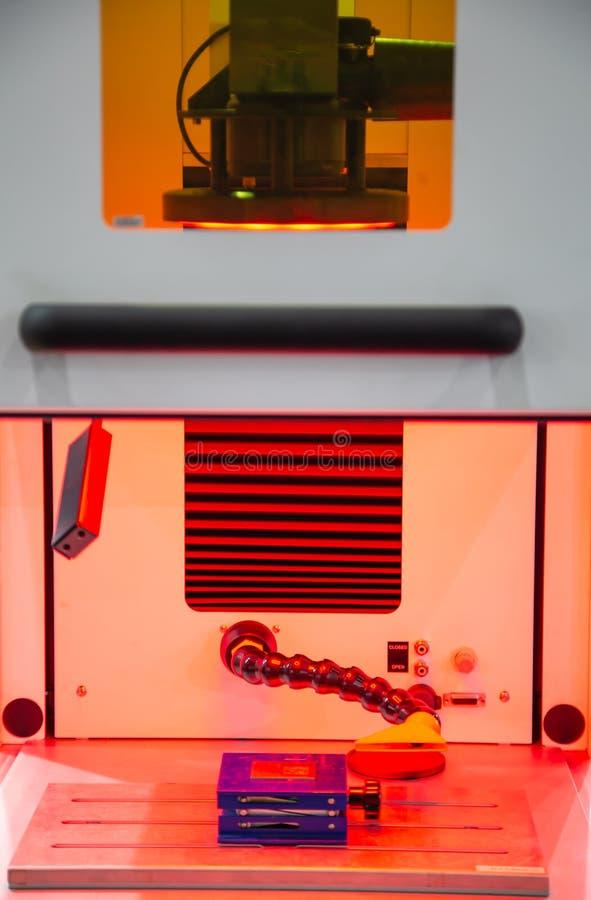 Машина маркировки лазера стоковое изображение rf