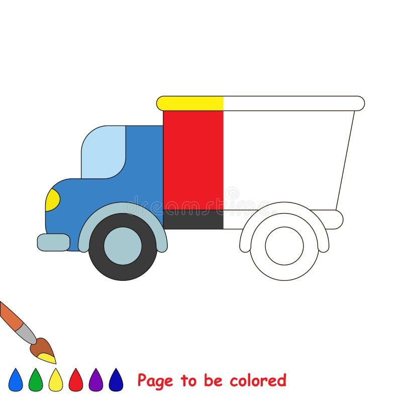 машина Половина страницы, который нужно покрасить бесплатная иллюстрация