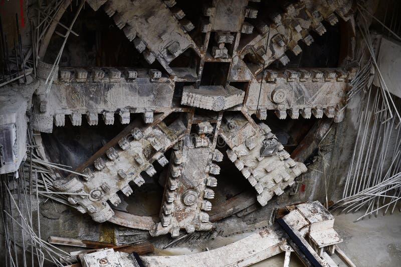 Машина тоннеля сверлильная в действии стоковое фото