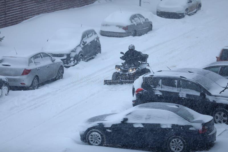 Машина удаления снега стоковое изображение