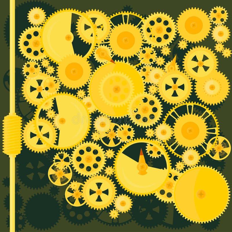 машина шестерен иллюстрация вектора