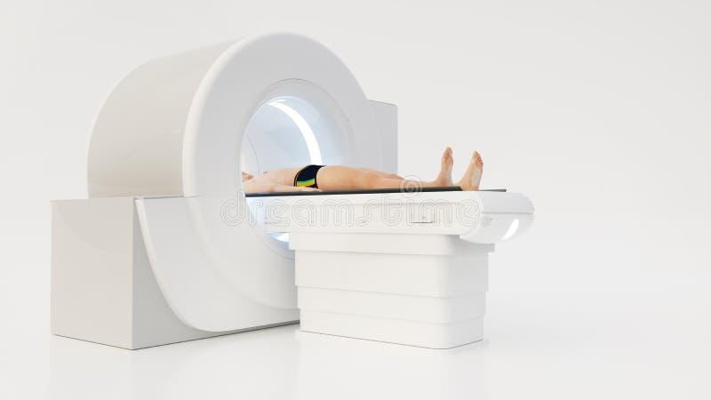 Машина Computertomography с человеческим переводом 3D стоковое фото