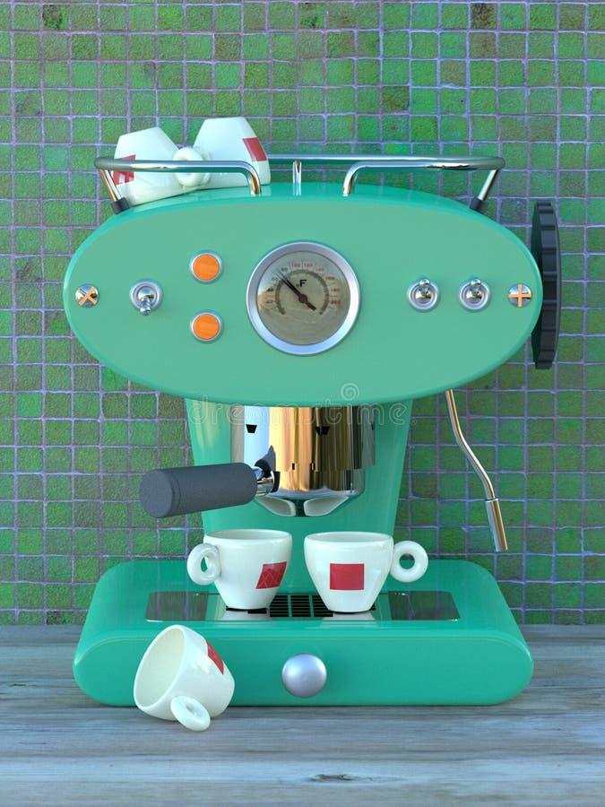 машина espresso aqua бесплатная иллюстрация