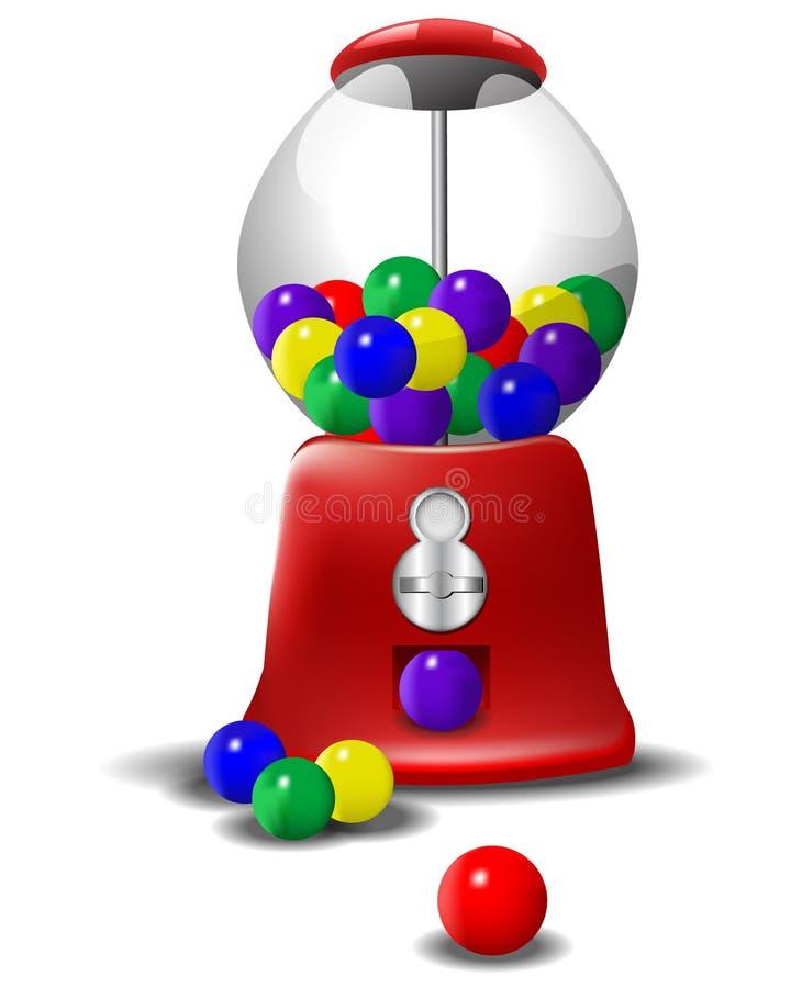 машина gumball иллюстрация вектора