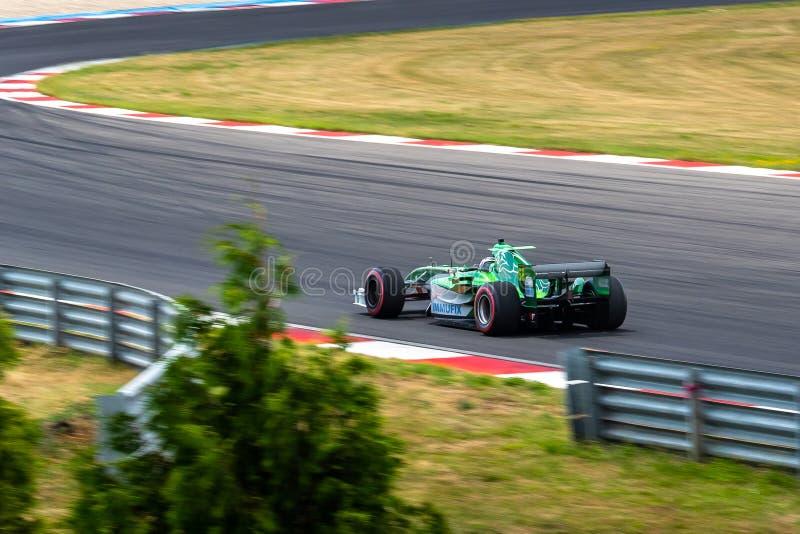 Машина Jaguar R5, Формула 1 стоковые изображения