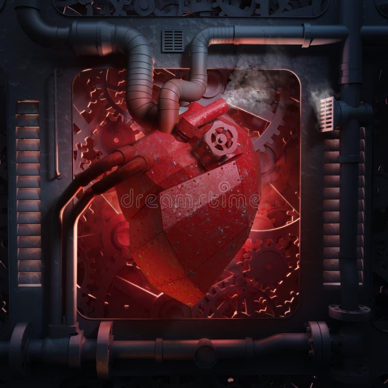 Машинное оборудование сердца иллюстрация штока