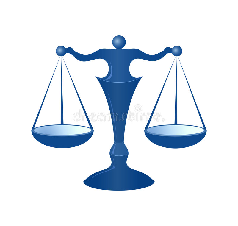 маштабы правосудия иллюстрация вектора