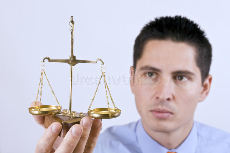 маштаб правосудия стоковая фотография