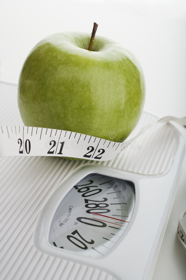 маштаб яблока стоковые изображения