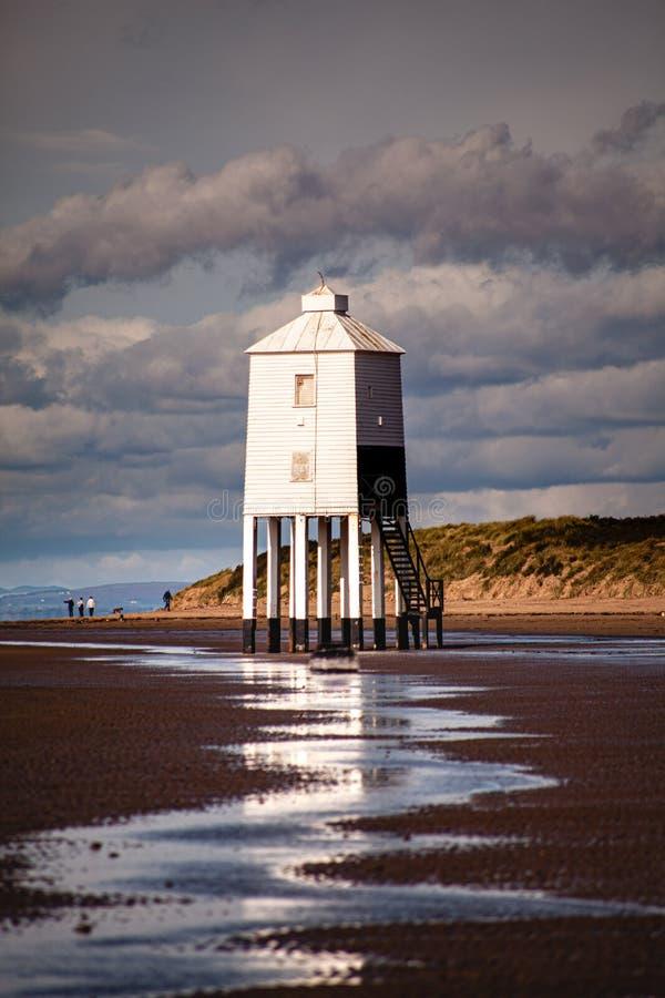 Маяк Бернхам-на-море, Сомерсет, США K стоковая фотография