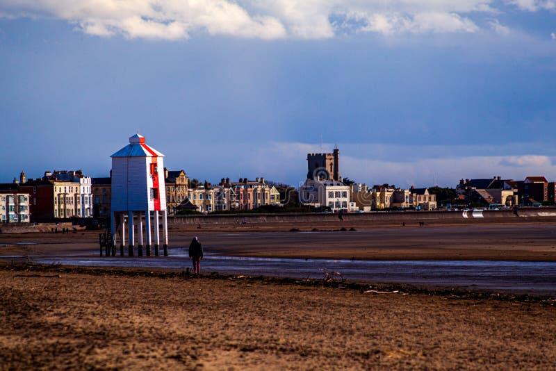 Маяк Бернхам-на-море, Сомерсет, США K стоковое изображение rf
