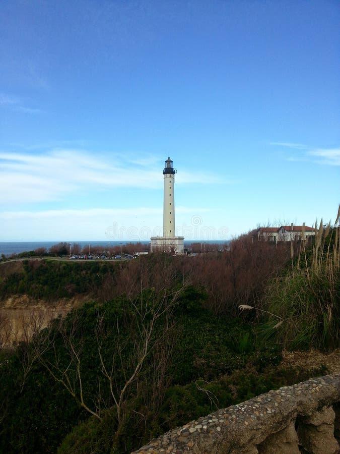 маяк Биаррица стоковое фото rf