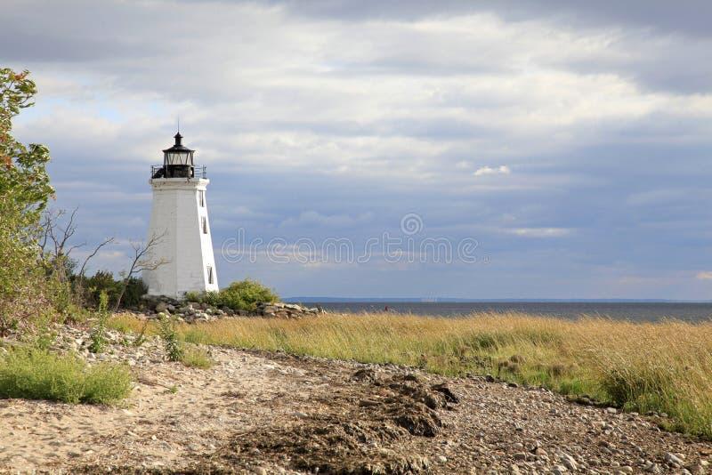 Маяк Бриджпорт Коннектикут острова Fayerweather стоковые фото