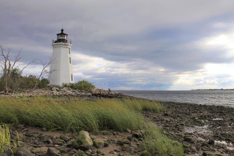 Маяк Бриджпорт Коннектикут острова Fayerweather стоковая фотография