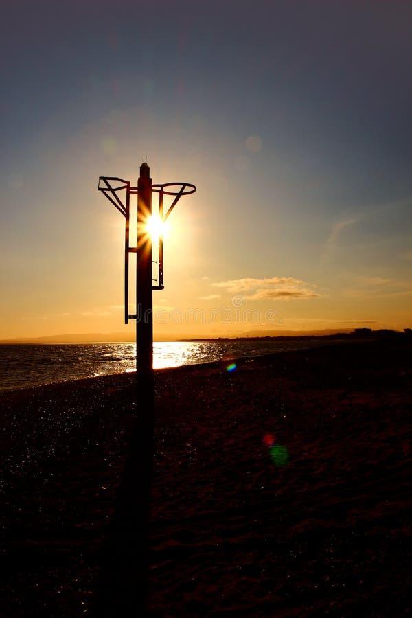 Маяк восхода солнца стоковые фотографии rf
