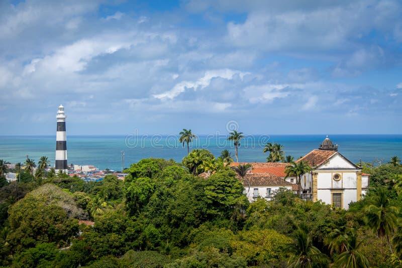 Маяк в Olinda - Pernambuco, Бразилии стоковое изображение