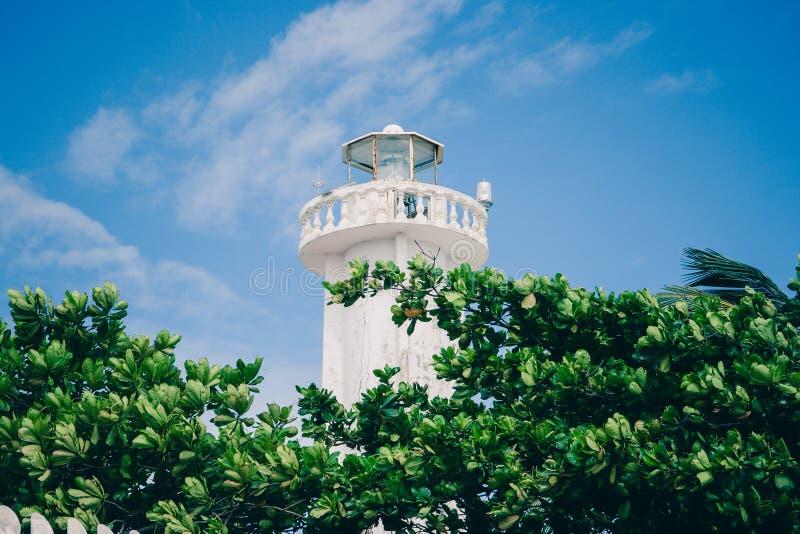 Маяк в Puerto Morelos, Quintana Roo, Мексике стоковое изображение